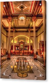 Acrylic Print featuring the photograph Driskill Hotel Check-in by Tim Stanley