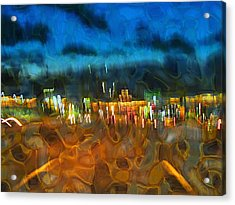 Drive By Night Acrylic Print by Wendy J St Christopher