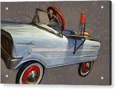 Drive In Pedal Car Acrylic Print by Michelle Calkins