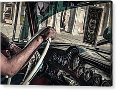 Driver Acrylic Print by Andreas Bauer