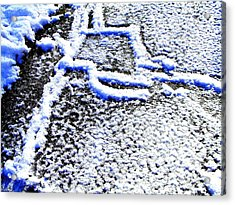 Driveway Frost Acrylic Print by Mike McCool