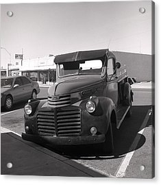 Driving A Relic - Film Acrylic Print by Greg Larson