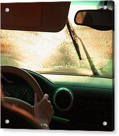 Driving In The Rain Acrylic Print