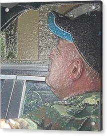Driving Man Acrylic Print