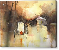 Driving On Acrylic Print by Robert Yonke