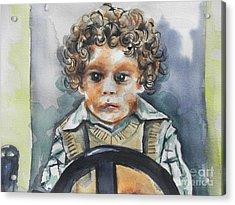 Driving The Taxi Acrylic Print by Chrisann Ellis
