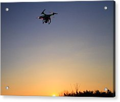 Drone At Sunset Acrylic Print
