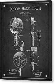 Droop Hand  Drum Patent Drawing From 1892 - Dark Acrylic Print