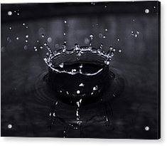 Drop Acrylic Print by Mandav  Prakash