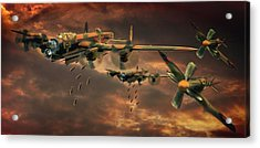 Drop Zone Acrylic Print by Steven Agius