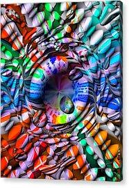 Drops Color By Nico Bielow Acrylic Print by Nico Bielow