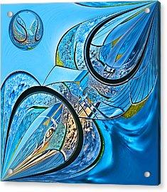 Blue Fantasy Acrylic Print