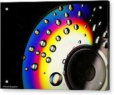 Drops Of A Rainbow Acrylic Print by Alexandra  Rampolla