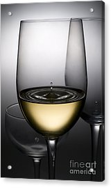 Drops Of Wine In Wine Glasses Acrylic Print