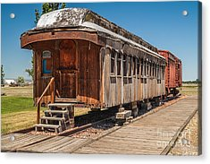 Drover And Cattle Cars Acrylic Print