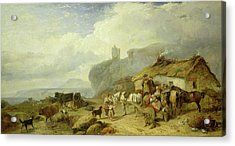 Drovers Halt, Island Of Mull Acrylic Print by Richard Ansdell