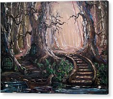 Acrylic Print featuring the painting Druid Walk by Megan Walsh