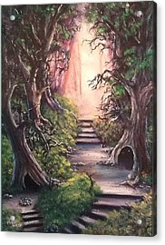 Acrylic Print featuring the painting Druid's Walk by Megan Walsh