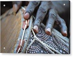 Drum Maker's Hands II Acrylic Print by Ronda Broatch