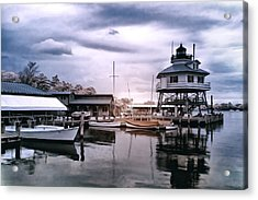 Drum Point In Infrared Watercolor Acrylic Print