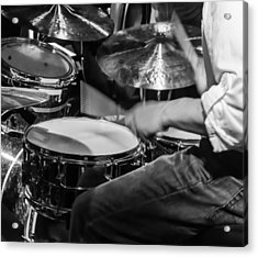 Drummer At Work Acrylic Print