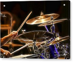 Drummer Acrylic Print by Clare VanderVeen