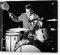 Drummer Gene Krupa Acrylic Print by Underwood Archives