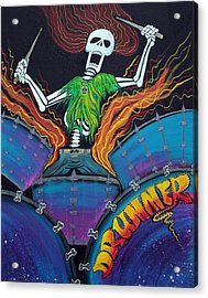Drummer Of The Dead Acrylic Print by Laura Barbosa