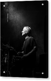 Drummer Portrait Of A Muscian Acrylic Print by Bob Orsillo