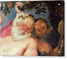 Drunken Silenus Supported By Satyrs Acrylic Print