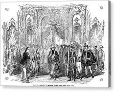 Drury Lane Theatre, 1854 Acrylic Print