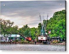 Dry Docked Shrimp Boat Acrylic Print