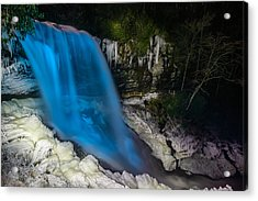 Dry Falls At Night Acrylic Print by Serge Skiba