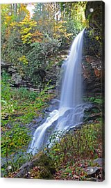 Dry Falls In Highlands Nc Acrylic Print by Mary Anne Baker