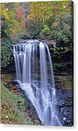 Dry Falls In Highlands North Carolina Acrylic Print by Mary Anne Baker
