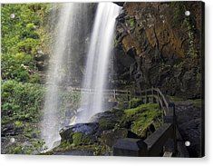 Acrylic Print featuring the photograph Dry Falls North Carolina by Charles Beeler