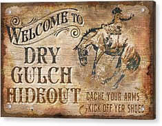 Dry Gulch Hideout Acrylic Print by JQ Licensing