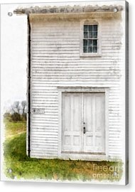 Dry House Canterburry Shaker Villiage Watercolor Acrylic Print by Edward Fielding