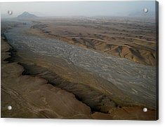 Dry River Bed In Helmand Province Afghanistan Acrylic Print by Jetson Nguyen