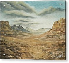 Acrylic Print featuring the painting Dry Storm by Cathy Cleveland