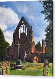 A Space To Cherish Dryburgh Abbey  Acrylic Print by Richard James Digance