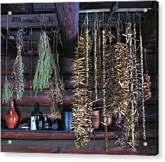 Drying Herbs And Vegetables In Williamsburg Acrylic Print