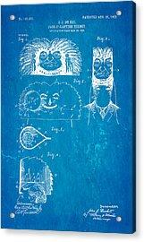 Du Ket Halloween Helmet Patent Art 1903 Blueprint Acrylic Print by Ian Monk