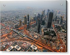 Duabi From Above Acrylic Print by Lars Ruecker