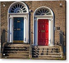 Dual Doors Acrylic Print by Inge Johnsson