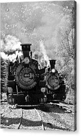 Dual Steam Engines Acrylic Print by Marta Alfred