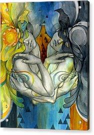 Duality Acrylic Print by Patricia Ariel