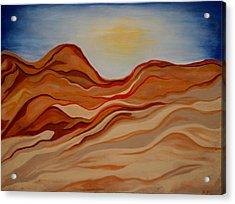 Dubai Desert Acrylic Print by Kathy Peltomaa Lewis
