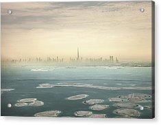 Dubai Downtown Skyscrapers And Office Acrylic Print by Leopatrizi