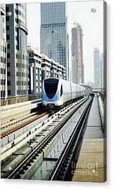 Dubai Metro Acrylic Print by Jelena Jovanovic